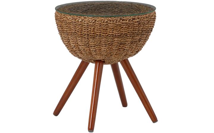 自然素材の丸テーブル