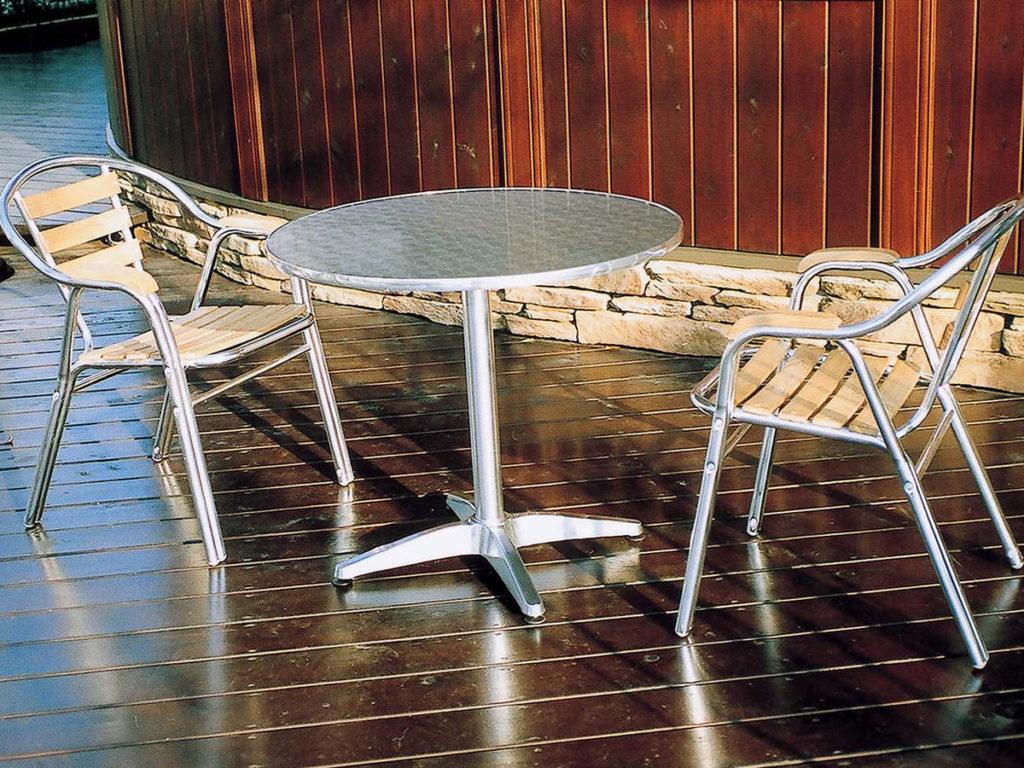 カフェテーブルセット 業務用 丸テーブル80 丸テーブル60