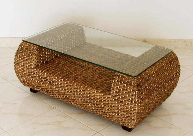 ウォーターヒヤシンスのローテーブル