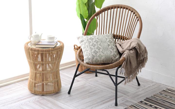 自然素材 ラタンを取り入れたチェア 椅子