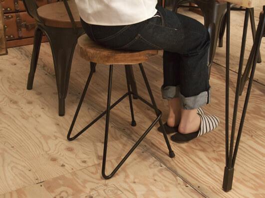 無垢材サイドテーブルベンチ