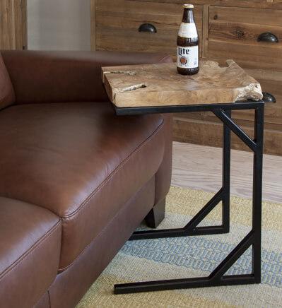 無垢材天板のサイドテーブル