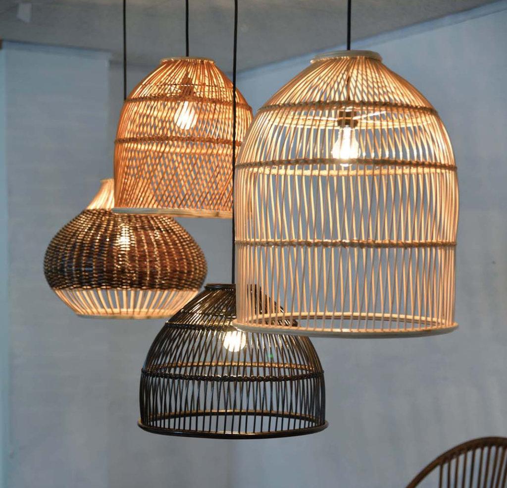 自然素材を使ったランプシェード