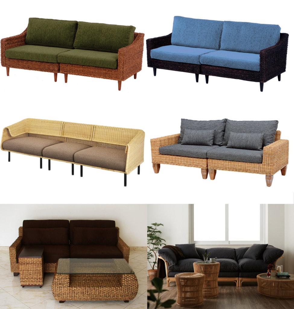 組み合わせタイプのソファ