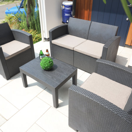 屋外用ガーデンソファ4点セット【組立式】