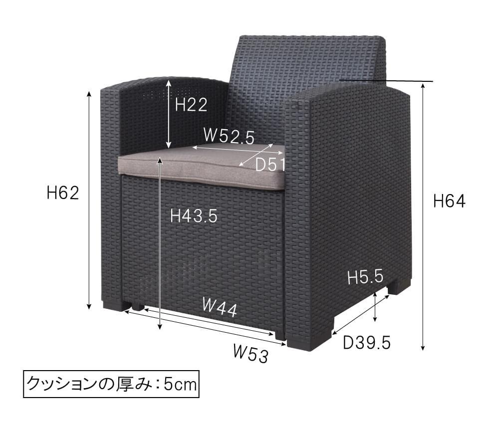 1Pソファのサイズ