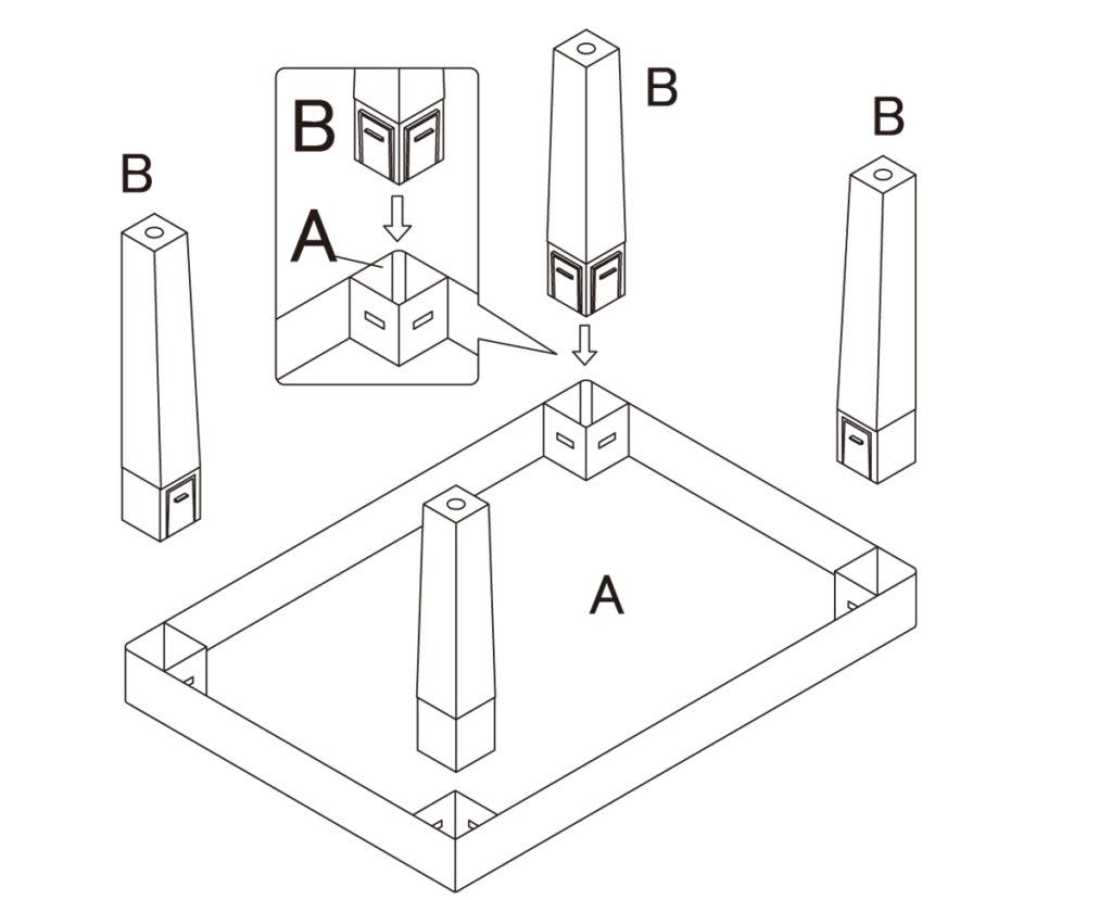 テーブル組立図抜粋