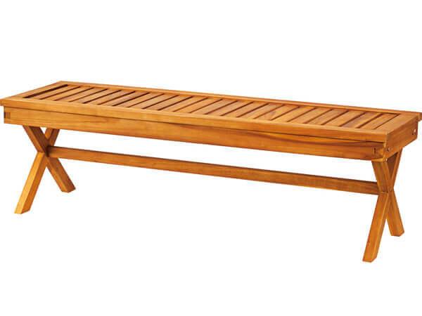 チーク材ガーデンベンチ幅150