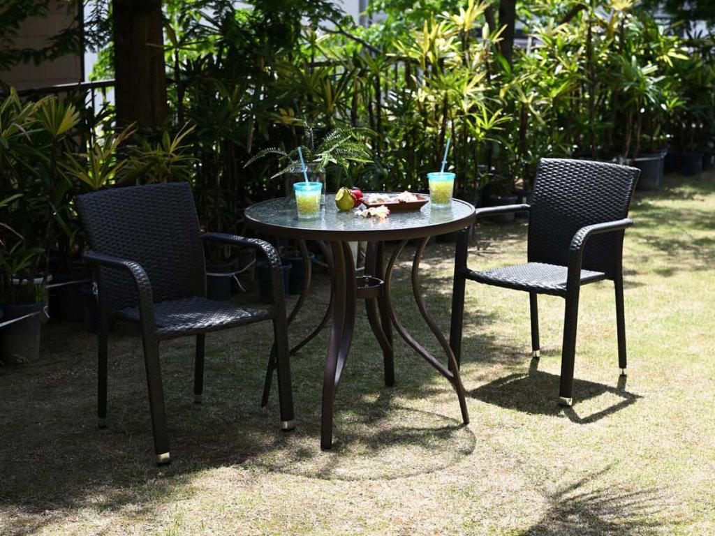 カフェテーブル3点セットA【Breeze Garden】