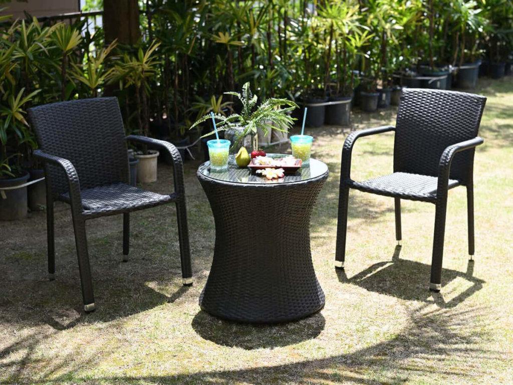 カフェテーブル3点セットB【Breeze Garden】