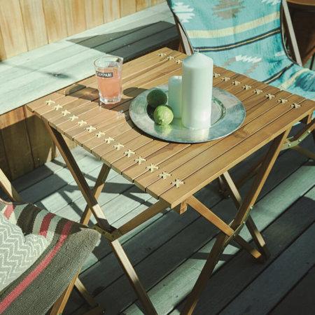折りたたみ式チーク材のガーデンテーブル