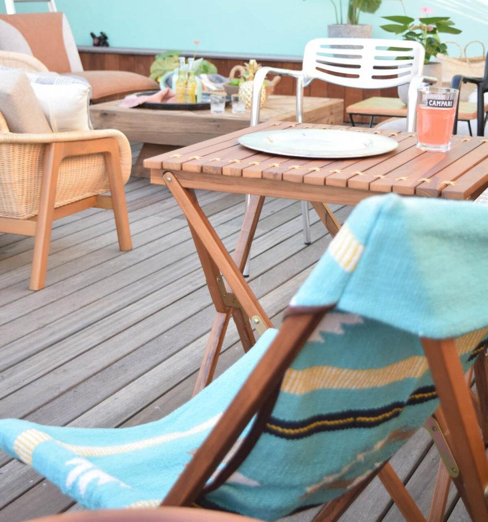 バーベキューやキャンプで使える折りたたみテーブル