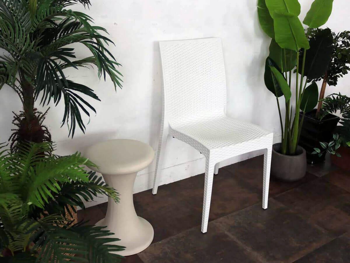 ガーデンチェア(椅子)ホワイト色