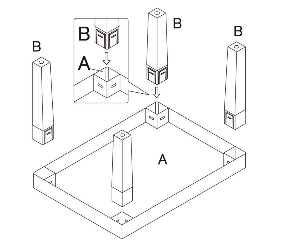 テーブル組立図