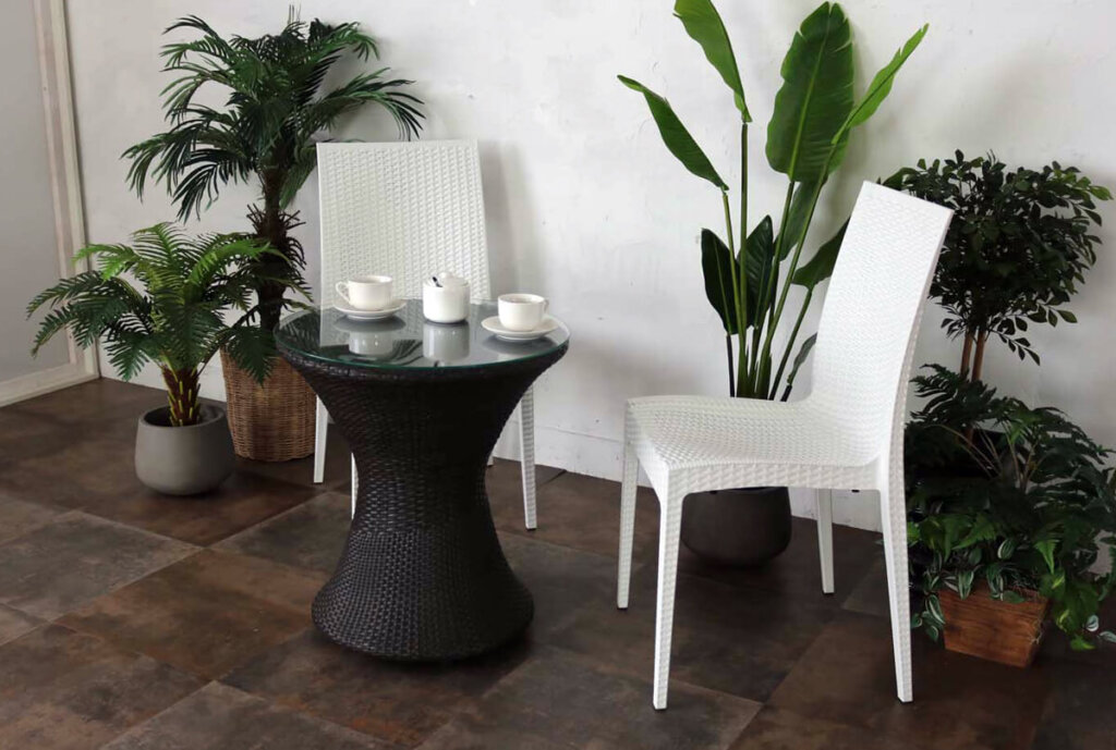 ガーデンテーブルチェアセット【ホワイト】